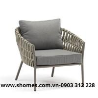 ghế dây dù chân sắt giả gỗ chất lượng