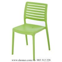 ghế nhựa inox