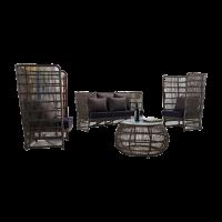 Bộ bàn ghế nhựa giả mây 01