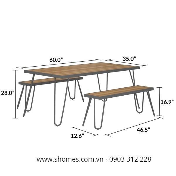 Bàn ghế gỗ ngoài trời xuất khẩu giá tốt