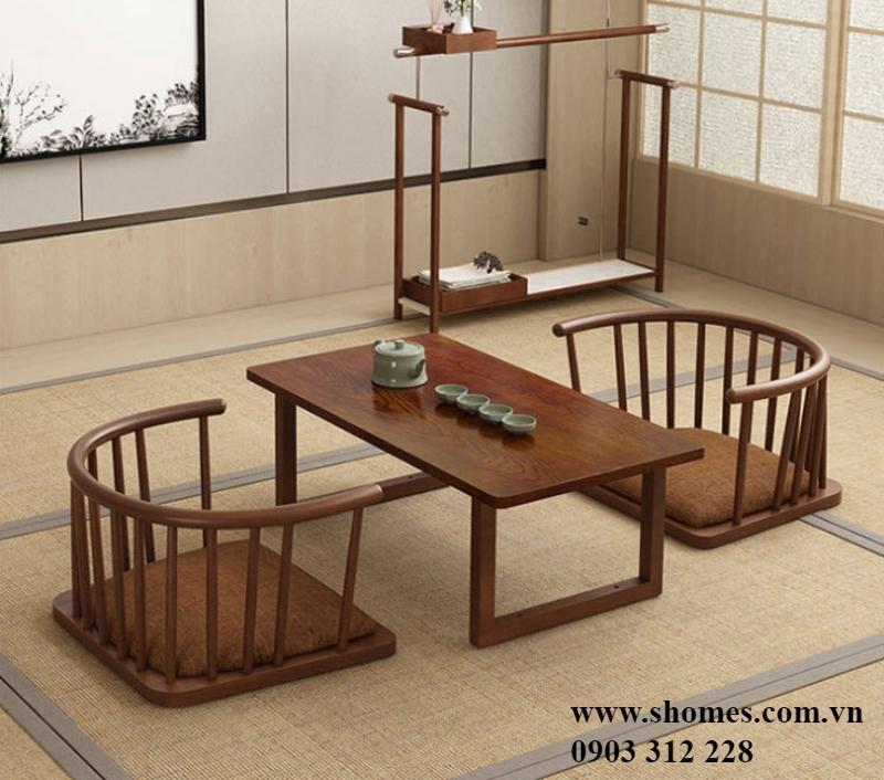 bàn ghế gỗ cafe cóc