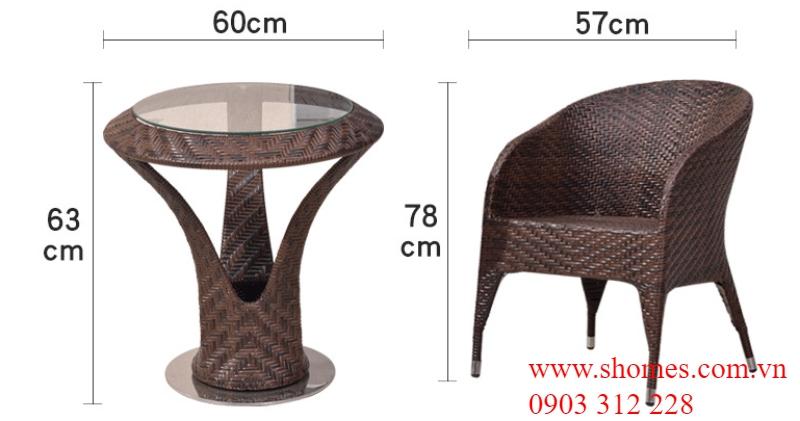 bàn ghế nhựa mây tp hcm