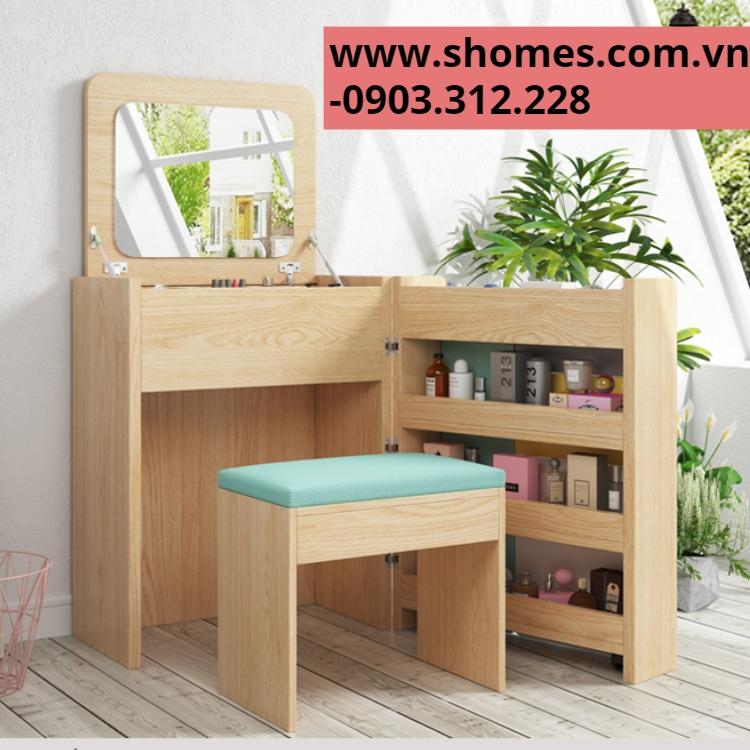 bàn trang điểm bằng gỗ đẹp hàng ngoại