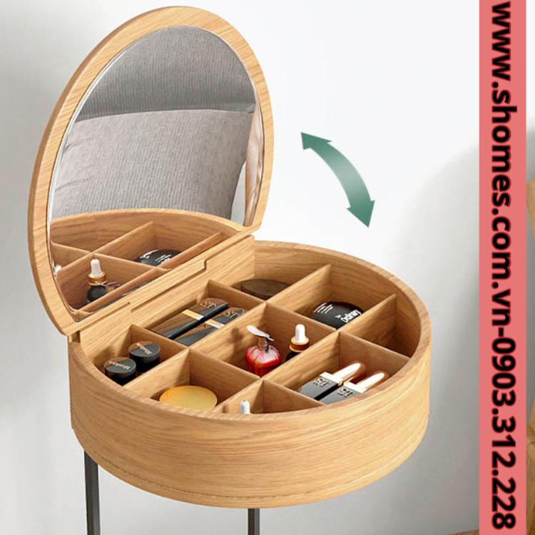 bàn trang điểm gỗ mini