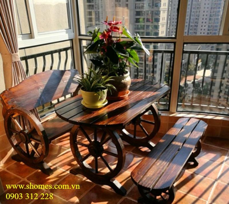 công ty bàn ghế gỗ ngoài trời