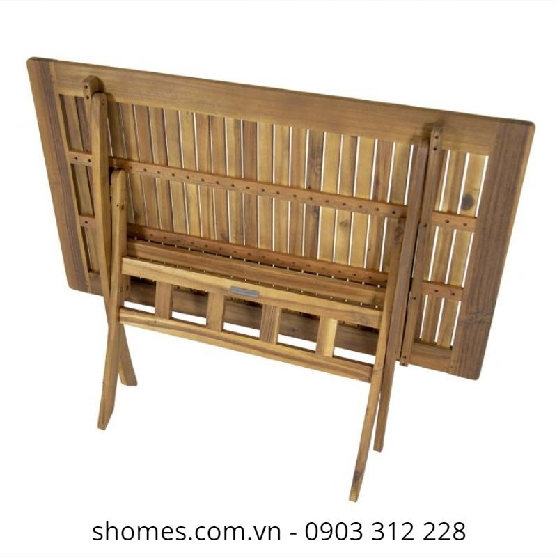 bàn gỗ xếp cafe