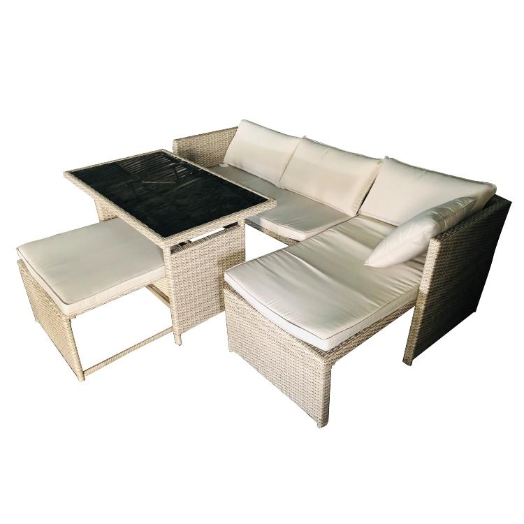 Bộ sofa nhựa giả mây 07