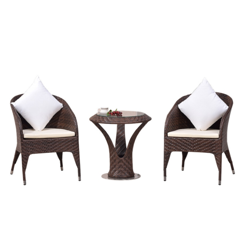 Bộ bàn ghế nhựa mây 02