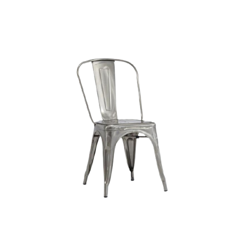 Bộ ghế ăn inox tựa lưng